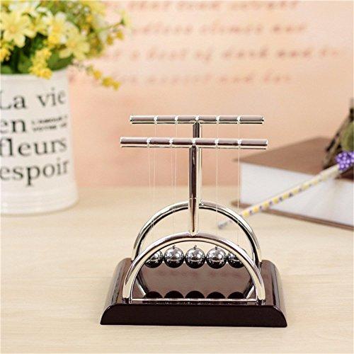 Vukub newton culla equilibrio palle fisica pendolo scienza scrivania ufficio classico giocattolo 18 * 15 * 18cm
