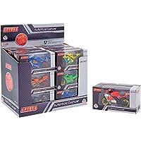 Globo Toys Globo - 37063 Spidko Die Cast Motorbike Free Wheel in a Box (1-Piece), Assorted