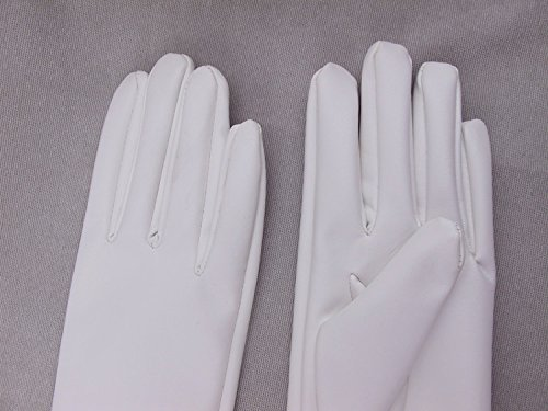 Edith qi Elégants aux femmes robe de soiree gants en faux cuir pour fête de mariage costume multicolore, taille pour S-L Blanc