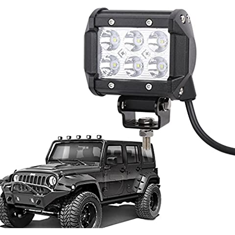 S & D 12pulgadas de alta potencia 72W CREE LED luz de trabajo Bar Spot Beam 1440lm Offroad lámpara para SUV Barco 4x 4Jeep lámpara 3WD ATV luces