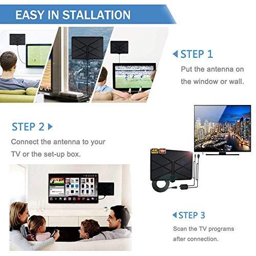 Neueste TV-Antenne Verstärkte Digital HDTV-Antenne Für Innen 960 Meilen Reichweite Mit 4K HD1080P DVB-T-Freeview-TV Für Das Leben Lokale Kanäle Broadcast Home Smart Television Hohe Qualität 4K HDTV (Smart-tv-antenne Besten)