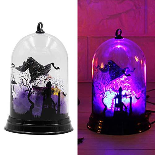 JUSTDOLIFE Halloween Nachtlicht Hexe Kürbis Dekorative LED Nachtlampe Tischleuchte