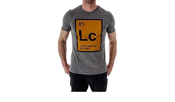 Local Celebrity T-Shirt Texas Jovi grau Druck weit V-Ausschnitt weich