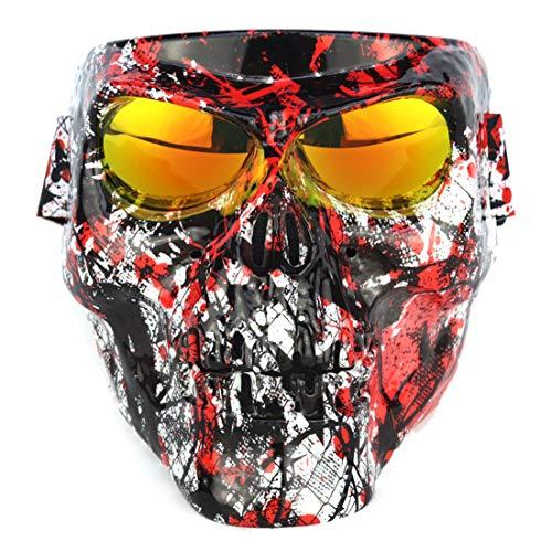 AMITAS Airsoft Maske, mit Paintball Brille, Maske für das ganze Gesicht, Gesichtsmaske, Schutzmaske, ideal für Paintball / Halloween-Kostüm