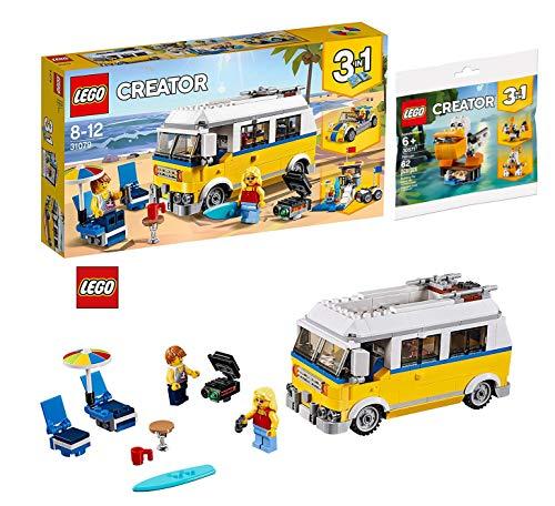 LEGO Creator Pelikan Bausatz und Sufermobil Bausatz Creator 31079