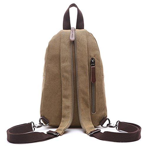 Outreo Donna Zaino Scuola Borsa Moda Casual Daypack Zaini Firmate Borsetta Viaggio Backpack Università Borsello Vintage Sacchetto Ragazza Sport Bag per Studenti Beige