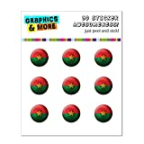 Burkina Faso Drapeau Soccer Ball Futbol Football Home Button Stickers pour Apple...