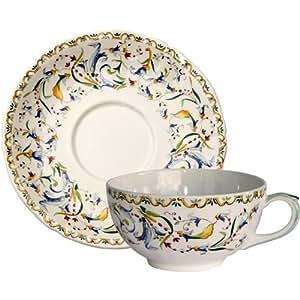 GIEN - Toscana - 2 tasses et sous tasses a dejeuner