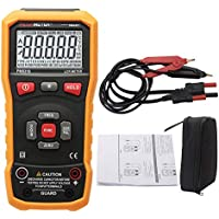 Vap26 - Multímetro digital de mano con pantalla LCD retroiluminada, No nulo, Naranja, Tamaño libre