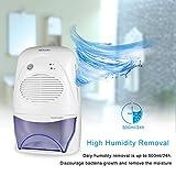 Aidodo Luftentfeuchter Elektrischer Luft Entfeuchter Mobiler 2000ml Lufttrockner Raumluftentfeuchter Bad Schlafzimmer Küche Keller mit Wassertank Testsieger