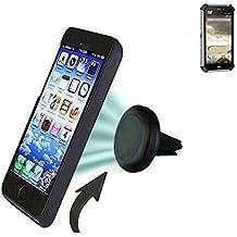 Coche universal del teléfono móvil / GPS / navegación titular del dispositivo por ejemplo, para Caterpillar Cat S50 ventilación Holder soporte de rejilla soporte para teléfono magnética Caterpillar Cat S50 Mini Car Air Vent titular Smartphone magnético. Fácil de instalar soporte magnético compacto para el coche. Sostiene a prueba de bombas y libre. Se puede utilizar con todos los teléfonos inteligentes. Por ejemplo, con la Caterpillar Cat S50 mano operable.