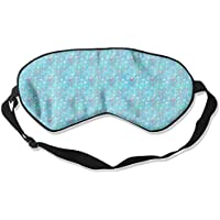 Comfortable Sleep Eyes Masks Blue Floral Pattern Sleeping Mask For Travelling, Night Noon Nap, Mediation Or Yoga preisvergleich bei billige-tabletten.eu