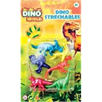 6 Stretchy Dinosaurs Dino Child Toy Party Gift Stocking Loot Bag Pinata Fillers Stretchable