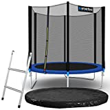 Kinetic Sports Outdoor Gartentrampolin Komplettset Ø 244 cm Sicherheitsnetz Randabdeckung