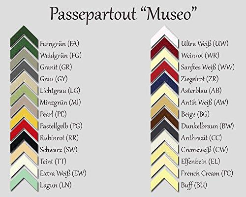 Passepartout MUSEO bis 80,0 x 120,0 cm individueller Zuschnitt nach Ihren Angaben - 26 Farben. Aktuelle Auswahl: Ultra Weiß