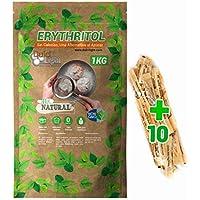 Eritritol 100% Natural Envase Ecologico 1Kg Edulcorante Cero Calorias. Ideal para Reposteria, y Dietas. DulciLight el Sabor Natural del Azúcar.