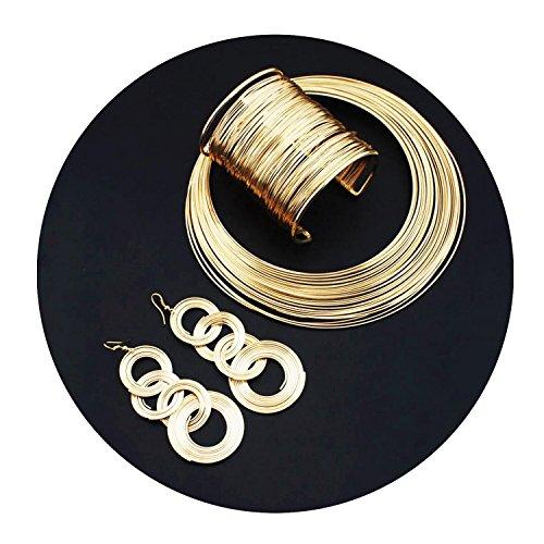 necklace-boucle-doreille-bracelet-set-chaine-designer-collier-declaration-soir-tenue-neuf