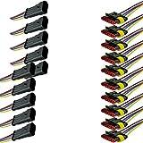 Mintice™ 5 X 4 broche voiture de façon automatique étanche connecteur électrique kit de prise de courant avec du fil AWG de calibre marin