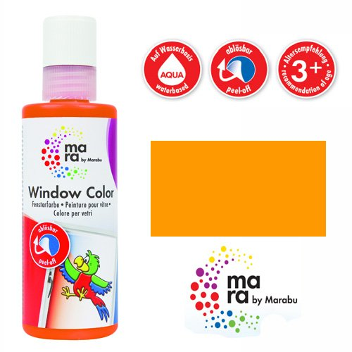 mara by Marabu Window Color, 80 ml, mandarine VE = 1