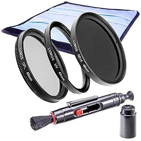 LUMOS KREATIV 49mm Filter Set mit ND16 Grau UV Polfilter LensPen Objektiv Zubehör uneingeschränkt kompatibel mit jedem Kamera Objektiv mit 49mm Filtergewinde z.B. Sony SEL-55210 Alpha 6000 6300 Canon EF-M 15-45 EOS M10 EF 50mm 1.8 STM Panasonic HC V757 777 W858 X929