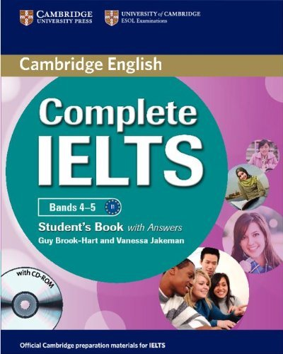 Complete IELTS Bands 4-5 Student's Book with Answers with CD-ROM by Guy Brook-Hart (23-Feb-2012) Paperback