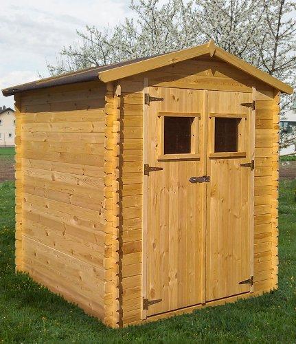 Gartenhütte Holz Purgstall - 2,20 x 2,20 Meter aus 19mm Blockbohlen