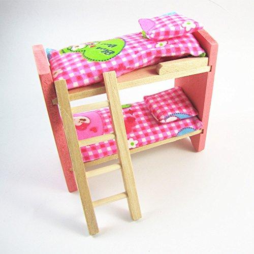 Bambini Dolls House Furniture Set in miniatura di legno della famiglia del bambino Gioca Bed Toy Camera