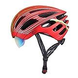 256g Peso ligero ultra - Ciclo de bicicleta de carretera Bicicleta de Montaña BTT Casco de seguridad de bicicleta - Cascos de seguridad de la bicicleta certificada para hombres y mujeres adultos, niños y niñas adolescentes - Cómodo, ligero, ( Color : Red )