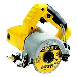 DeWalt Nass- und Trocken Fliesensäge/Fliesenschneidemaschine (1,300 Watt, 110 mm Diamantscheibe, Leerlaufdrehzahl 13000 U/min, Schnitttiefe 34 mm, inkl. Zubehör) DWC410