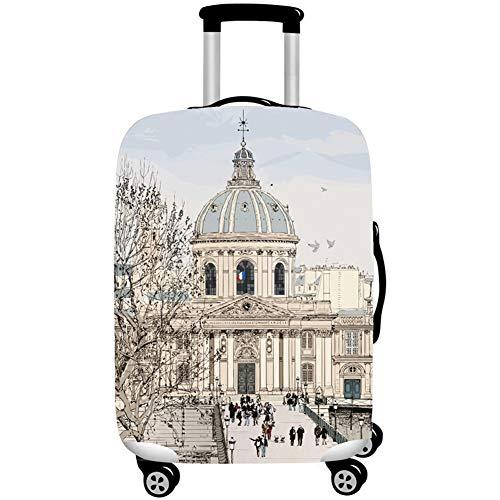 MISSMAO_FASHION2019 Elastisch Kofferschutzhülle Gepäck Cover Reisekoffer Hülle Kofferschutz Staubdicht für 18-32 Zoll Style14 S(Fit 18-20 Zoll Koffer)