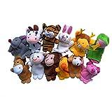 Huhu833 8pcs/10pcs/12pcs Tier Fingerpuppe Plüsch Kind Baby Früherziehung Spielzeug Geschenk (12pcs)