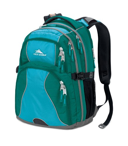 High Sierra Swerve Rucksack (19x 13x 7.75-inch, Jade) (Swerve Sierra Rucksack High Daypack)