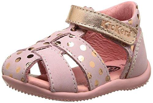 Kickers Biggy, Chaussures Bébé marche bébé fille Rose (Rose Clair Métal)