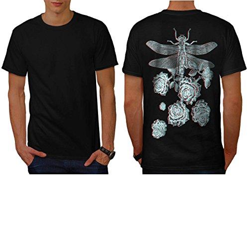 libellule-fleur-insecte-une-fleur-homme-nouveau-noir-l-t-shirt-reverse-wellcoda