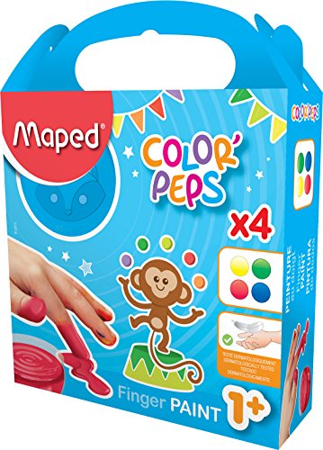 Maped Early Age 812510 Peinture au doigt 4 Pots 80 g
