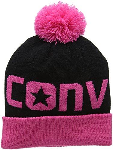 Converse Jacquard Pom, Cappellopello Bambina, Rosa (Mod Pink), Taglia Unica (Taglia Produttore: One Size)