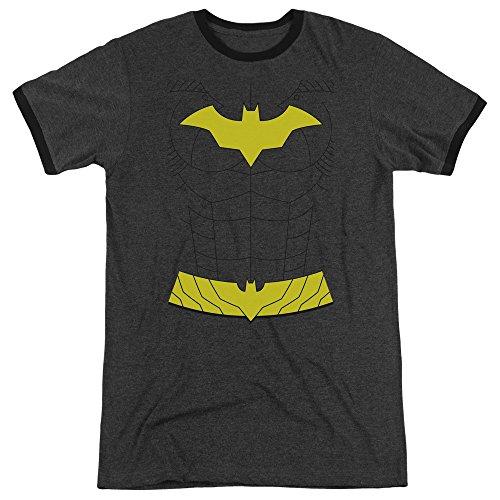 Batman Der Neue Kostüm - Batman Das neue Batgirl-Kostüm-Wecker-T-Shirt der Männer, Large, Charcoal