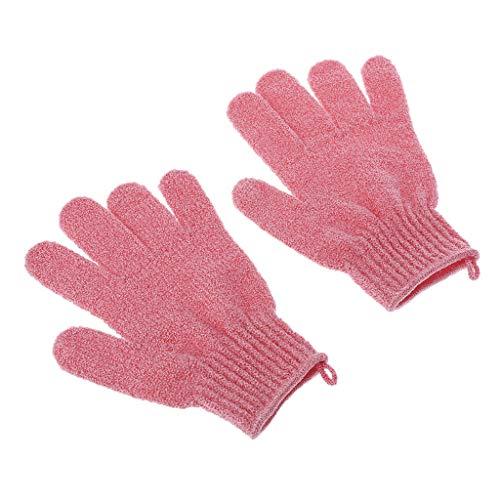 Exing Handschuhe Damen,Duschbadhandschuhe Peeling Luffa Körperwäscher Wash Skin Spa Massage (HP)