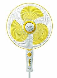 V Guard Pedestal fan Snowgale 400mm- Yellow white