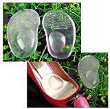 Sehr Bequem Beste Qualität Paar Silikon Einlagen / Stützeinlagen / Einlegesohlen Nicht Rutschend Für Schuhe In Farbe Transparent Von VAGA®