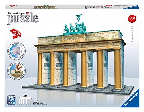 Ravensburger-12551-Brandenburger-Tor-Berlin-324-Teile-Puzzle-3D-Puzzle-Bauwerke Ravensburger 3D Puzzle 12551 – Brandenburger Tor – 324 Teile -