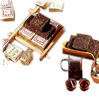 250g (0.55LB) Mall Boîte en fer à briques cuite au thé Pu'er mûr au thé Pu Erh vieux thé Puer au thé noir cuite au thé Pu-erh au thé Pu erh