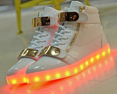 [+Kleines Handtuch]Kinderschuhe USB Lade Licht Jungen emittierende Schuhmädchenschuh leuchtende LED beleuchtete Sportschuhe großer Junge Sc c34