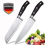 2-Piece Ultra Sharp Chef Knives,8 inch Chef Knife & 7 inch Santoku Knife,Germany