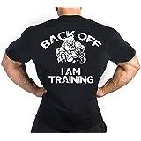 BACK OFF TRAINING Gym Motivation MMA Bodybuilding Workout Wrestling T-Shirt TEE