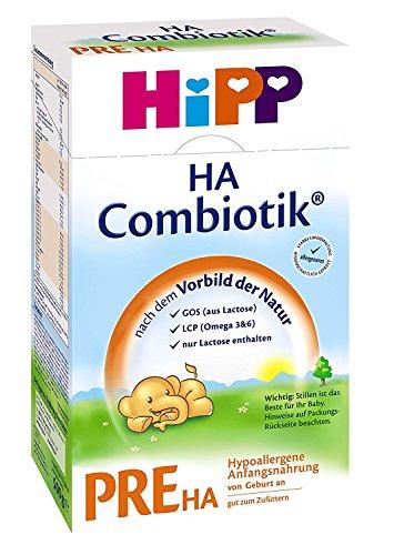 Hipp Pre HA Combiotik, Hypoallergene Anfangsmilch - von Geburt an, 6er Pack (6 x 500g)