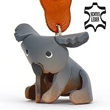 Monkiamu Koala-bär Leder Schlüssel-anhänger Deko-Figur 3D Charm-s Kinder Mädchen Damen Australien Zoo Schmuck Geschnk-e grau 5cm klein