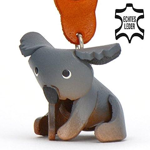 Koala Koko - Koalabären Schlüsselanhänger Deko Figur aus echtem Leder in der Kategorie Plüschtier / Stofftier / Kuscheltier von Monkimau Artikel in grau - Dein bester Freund. Immer dabei! - 5x2x4cm LxBxH klein, jeweils 1 Stück