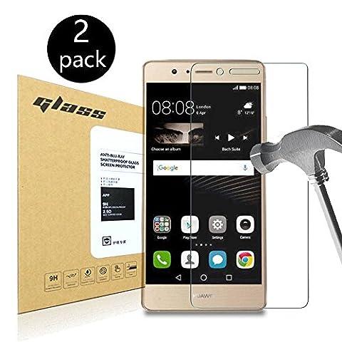 [2-Pack]Huawei P9 lite Protecteur d'écran,HoPerain[verre trempé] Protection écran,Dureté 9H,Anti Scratch,Anti-empreintes digitales