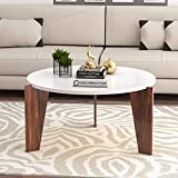 DecorNation Aurora Wooden Coffee Table | Cocktail Table | Center Table for Living Room, Bedroom | White Finish